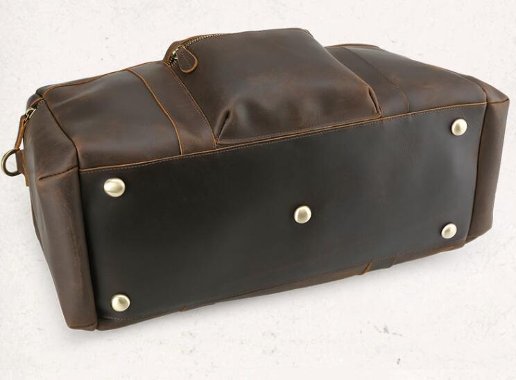 b27e7292cc56 Leather Duffle Bag, Genuine Leather Travel Bag,Handmade Weekend Bag,  Luggage Bag WT001 - Brown