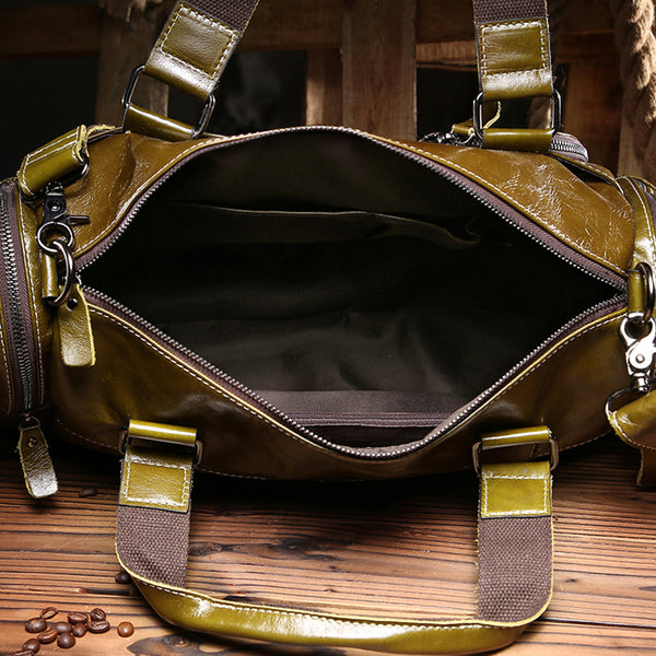 Leather Duffle Bag, Travel Bag,Weekend Bag, Shoulder Bag  MT001 - Leajanebag
