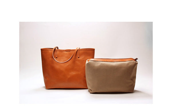 Leather Tote, Leather Shoulder Bag, Shopping Bag, Women Bag, Xmas Gift SL006 - Leajanebag