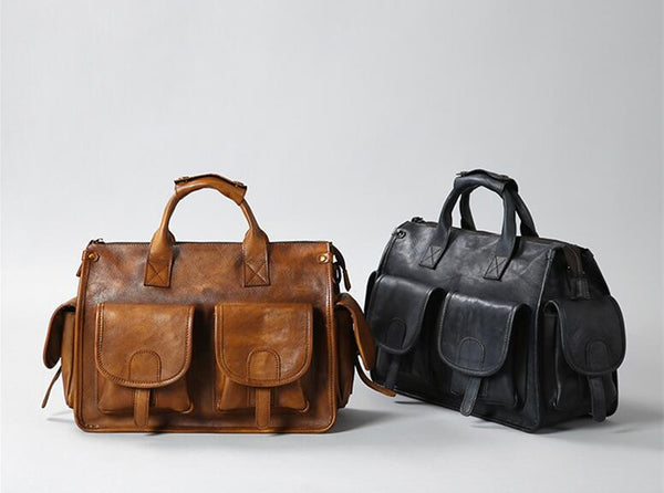 Leather briefcase men, Leather doctor bag, Vintage briefcase, Graduation gift GLT083 - Leajanebag