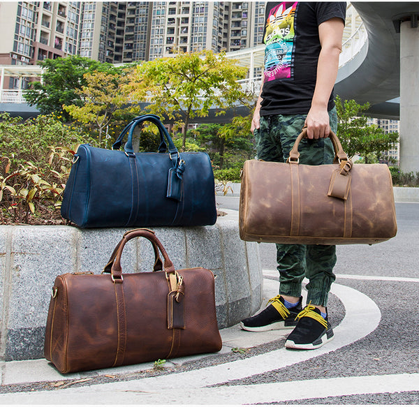 Leather duffel bag, Overnight bag, Weekender bag, Travel bag, Gym bag, Leather duffle bag GLT096 - Leajanebag