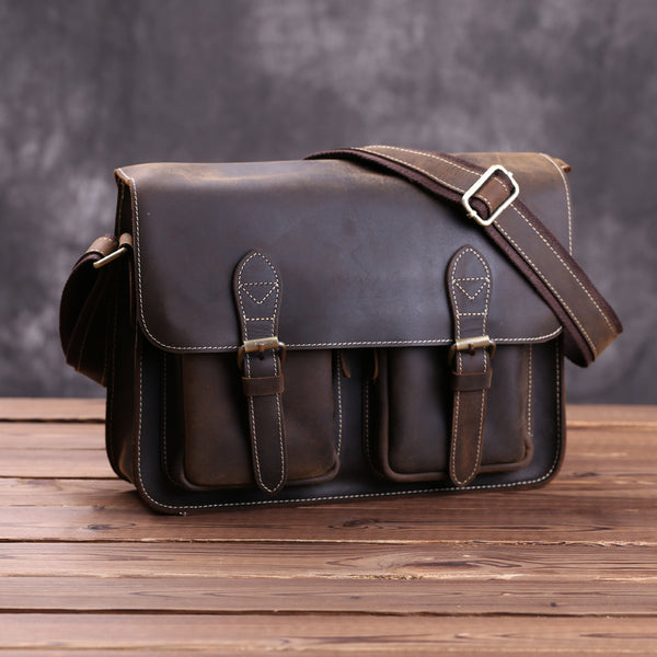 Handmade Genuine Leather Camera Case, DSLR Bag 6915