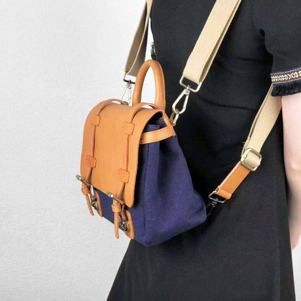 Canvas Leather Crossbody Bag, Crossbody Bag, Leather Purse, Purse, Crossbody Bags, Crossbody, Small Crossbody Bag, Leather Bag GM012 - Leajanebag