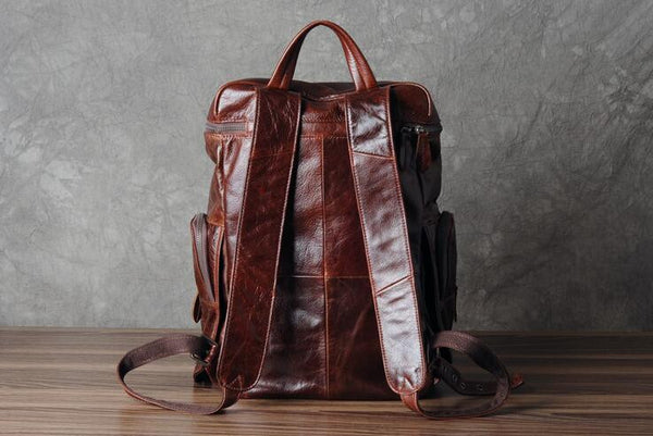 New! Genuine Leather Backpack, Weekend Backpack,Bag and Backpack GZ002 - Leajanebag