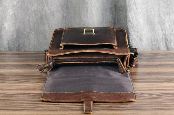 Handbag Leather Satchel,Tan Portfolio Messenger Bag,Tablet Leather Bag GZ008 - Leajanebag