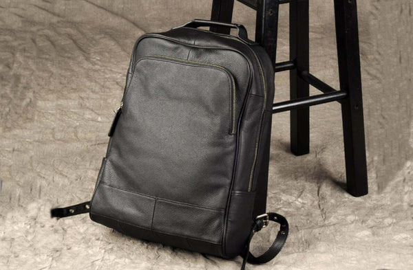 Genuine Leather Backpack, Black Backpack,Bag and Backpack GZ011 - Leajanebag