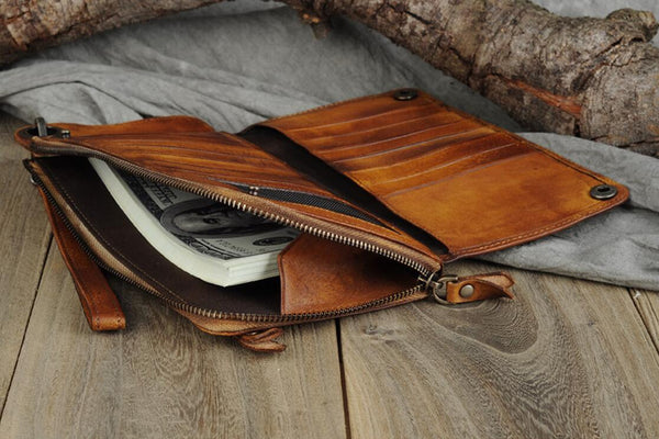 Leather Wallets For Women, Women's Wallet Gifts for Mom,Leather Clutch Wallet 9028 - Leajanebag