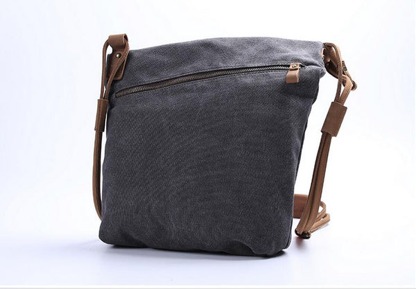 Leather Canvas Bags, Shopping Totes, Crossbody Canvas Bags, Canvas Shoulder Bag JC001 - Leajanebag