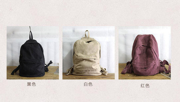 Vintage Canvas Backpack, Women Travel Backpack, School Backpack YY012 - Leajanebag
