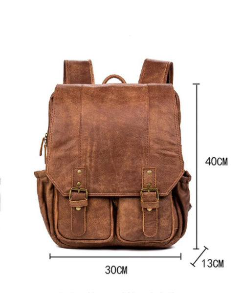 First Layer Leather Backpack, Travel Backpack, Handmade Backpack MS037 - Leajanebag