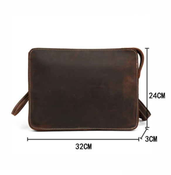 Handmade Leather Clutch, Leather Handbag, Leather Wallet MS139 - Leajanebag