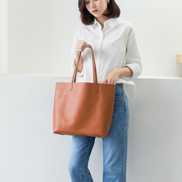 Leather Shopping Bag,Women Tote Bag, Women Laptop Leather Bag MN001 - Leajanebag