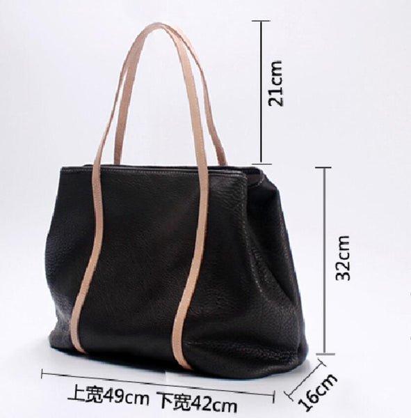 Larger Genuine Leather Tote Bag for Women, Shoulder Shopping Bag SL014 - Leajanebag