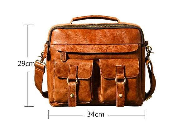 Leather Bag, Business Laptop Bag,Crossbody Leather Bag GLT004 - Leajanebag