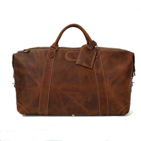 Genuine Leather Duffle Bag, Leather Travel Bag,Weekend Bag  DZ07 - Leajanebag