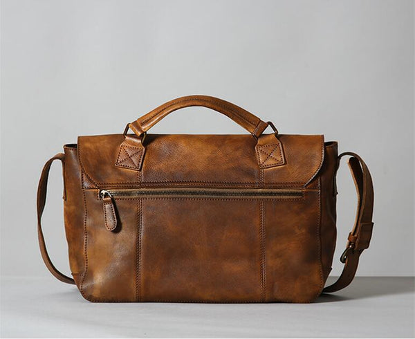 Handmade Leather Briefcase for Men, Business Bag, Shoulder Bag GLT095 - Leajanebag
