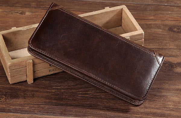 Personalized Bifold Leather, Slim Leather Wallet, Distressed Leather Wallet, Minimalist Leather Wallet, Unisex Wallet GS007 - Leajanebag