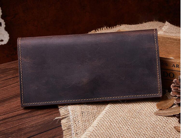 Distressed Leather Wallet,Personalized Slim Leather Wallet,Minimalist Leather Wallet,Unisex Wallet,Bifold Wallet GS010 - Leajanebag