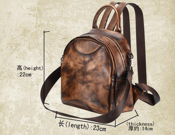 Personalized  Leather Backpack, Bag and Backpack, Travel Leather Backpack, Handmade Backpack  GS023 - Leajanebag