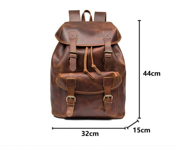 Leather Backpack, Women's Backpack, Leather Rucksack Women, Office Bag, Travel Bag, Men's Backpack from Full Grain Leather, LARGE. - Leajanebag