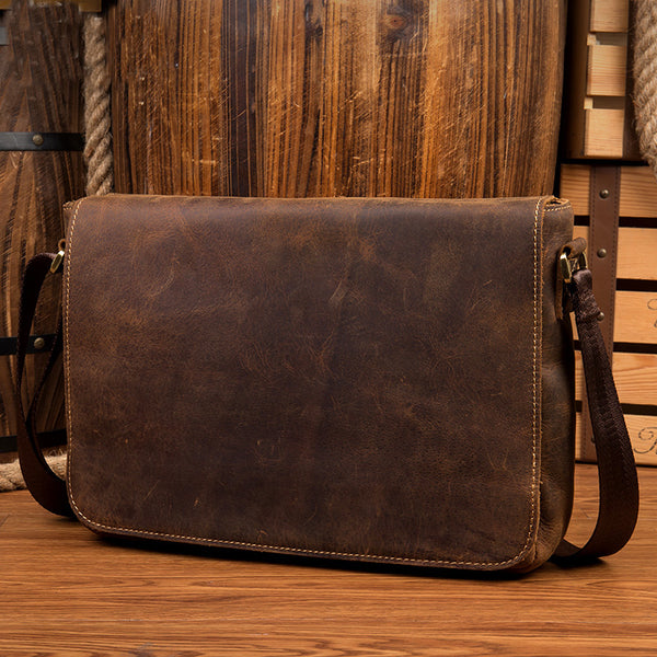 Leather Messenger Bag, Messenger Bag, Shoulder Bag, Leather Satchel, Leather Briefcase MS067 - Leajanebag