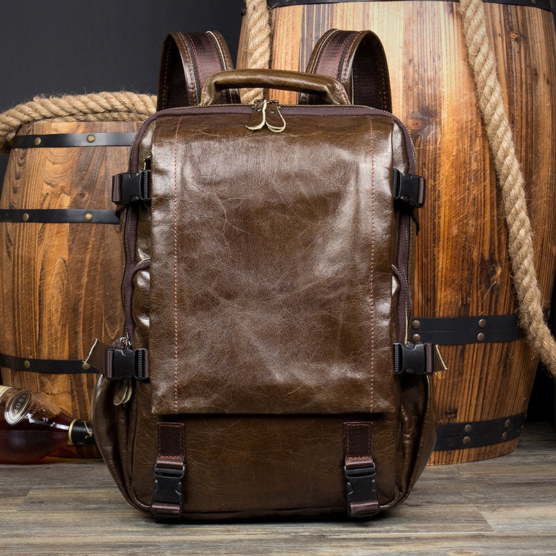 Computer Sales This Weekend: Leather Backpack, Leather Travel Backpack,School Backpack