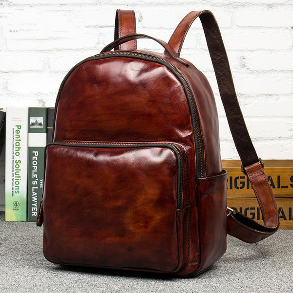 Leather Backpack, School Backpack, Travel Backpack MS105 - Leajanebag