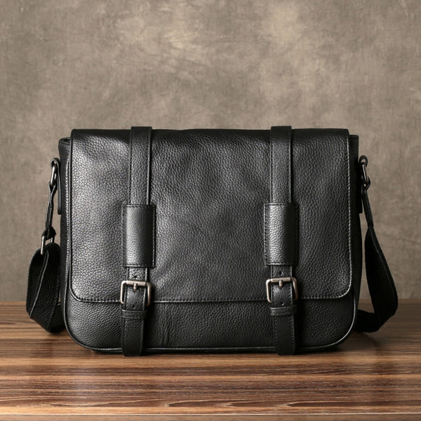 Leather Messenger Bag, Mens Travel Briefcase, Leather Laptop Bag Men GZ054 - Leajanebag