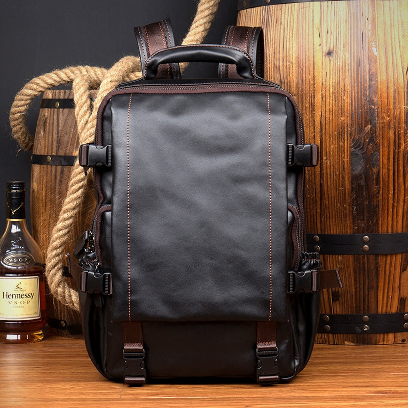 Computer Sales This Weekend: Extra Larger Leather Backpack, Travel Backpack, Laptop