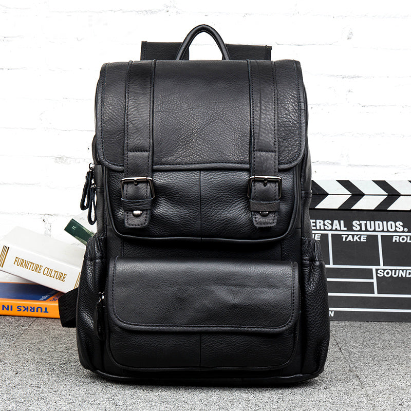 Leather Backpack, Carry-On Bag, Weekend Bag, Flight Bag, Extra Large Deluxe Travel Bag MS051 - Leajanebag