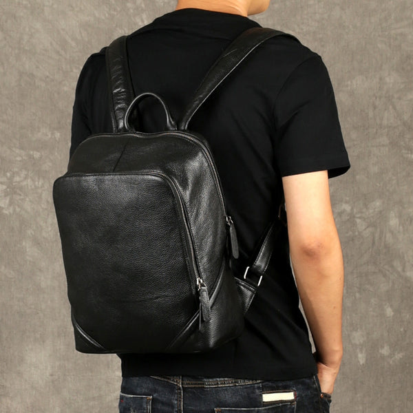 Leather Cognack Backpack, Mens Travel Backpack, Handmade Backpack GZ055 - Leajanebag