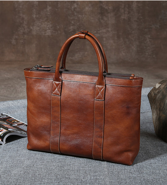 Handmade Leather Briefcase, High Quality Business Bag, Leather Laptop Bag GLT003 - Leajanebag