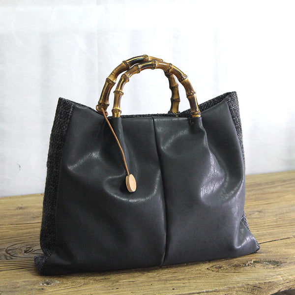 Large Canvas Bag, Women Tote Bag, Canvas Travel Bag YY013 - Leajanebag