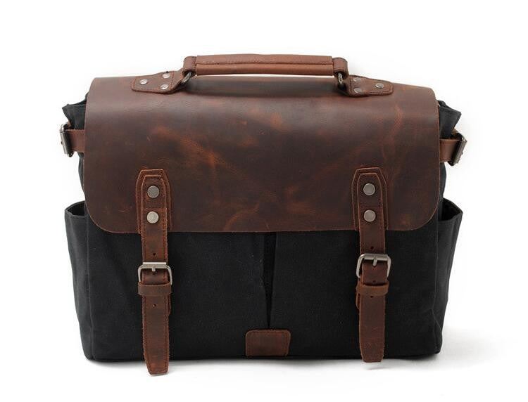 Satchel - Leather Satchel - Mens Satchel - Canvas Satchel - Men Leather Satchel - Satchel Men GN009 - Leajanebag
