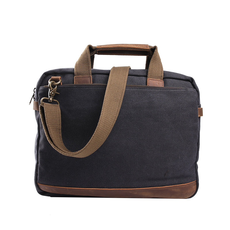Canvas Laptop Bag, Business Bag, Canvas Shoulder Bag JC013 - Leajanebag