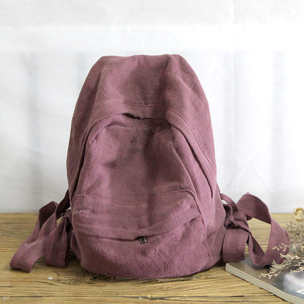 Travel Canvas Backpack, Handmade Backpack, School Backpack YY012 - Leajanebag
