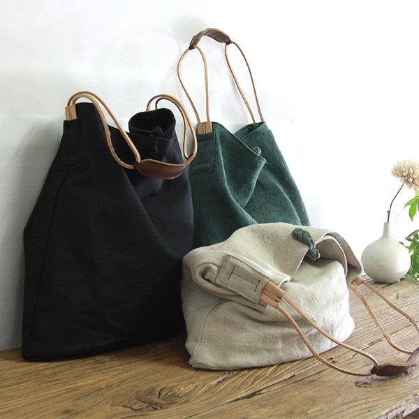 Handmade Shoulder Bag, Canvas Shoulder Bag,Travel Bag  YY004 - Leajanebag