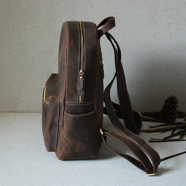 Vintage Leather Backpack,School Backpack GM008 - Leajanebag