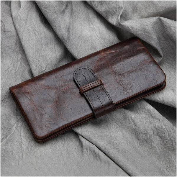 Long Leather Wallet, Card Wallet, iPhone Wallet JX002 - Leajanebag