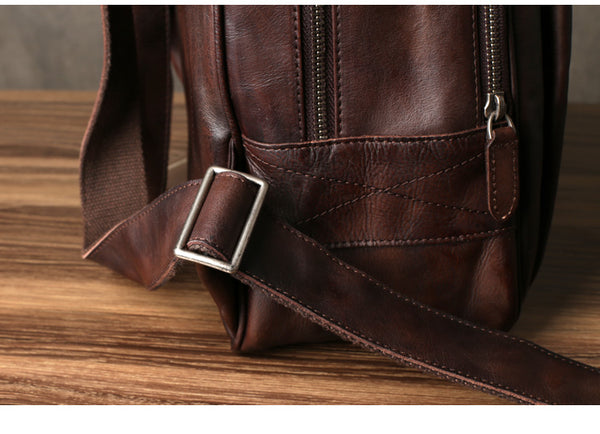 High Quality Leather Backpack, Leather Rucksack, Handmade Travel Bag Backpack GZ034 - Leajanebag