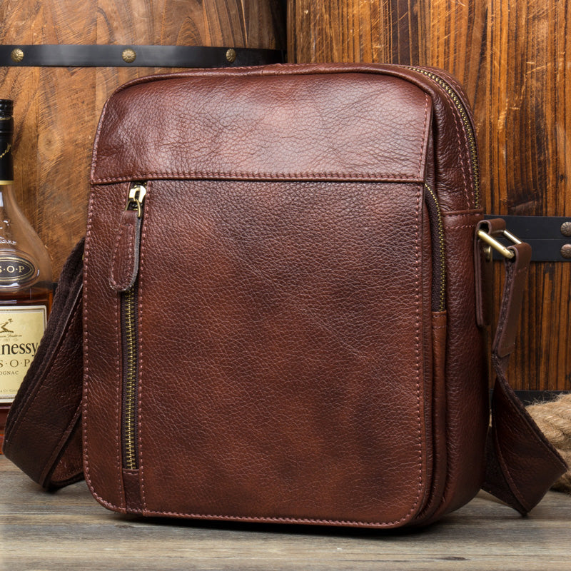 Genuine leather briefcase, Shoulder Messenger Briefcase, Crossbody Bag  MS154 - Leajanebag