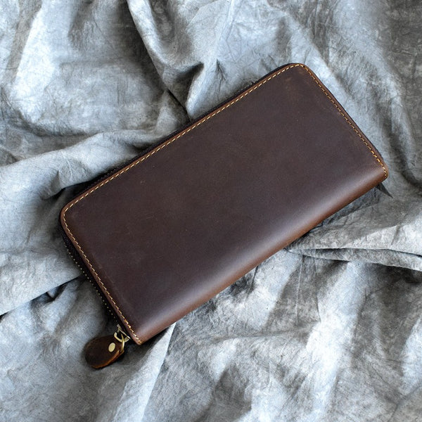 Leather Wallet, Card Wallet, Long Cool Wallet JX001 - Leajanebag