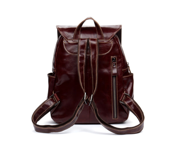 Handmade Vintage Leather Backpack, School Backpack MS138 - Leajanebag