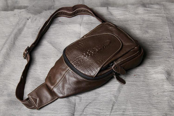 Leather Chest Bags, Handmade Chest Bag, Mens Bag OAK004 - Leajanebag
