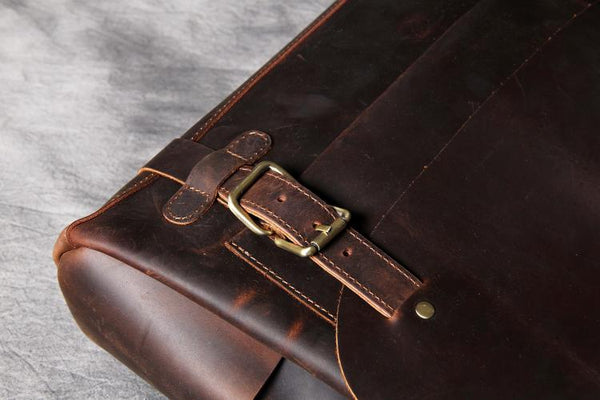 Mens Leather Briefcase, Leather Messenger Bag, Mens Leather Satchel, Handmade Briefcase OAK-021 - Leajanebag