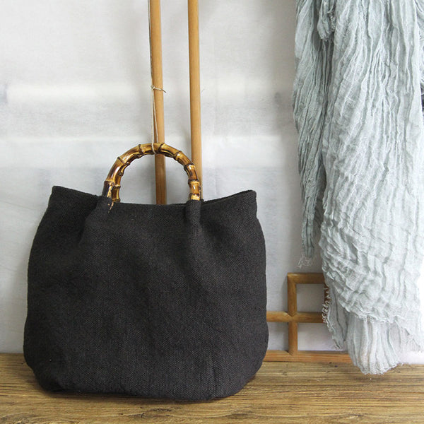 Handmade Canvas Bag, Women Tote Bag, Canvas Shopping Bag YY013 - Leajanebag