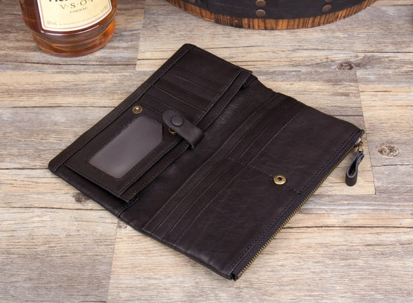 Mens Leather Wallet, Personalized Leather Wallet, Monogrammed Leather Wallet, MS092 - Leajanebag