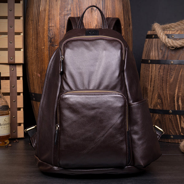 Handmade Leather Rucksack, Travel Bag, Bag and backpack MS152 - Leajanebag