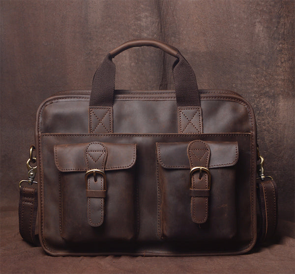 Leather Briefcase for Men, Classic Laptop Bag JZ019  - Leajanebag