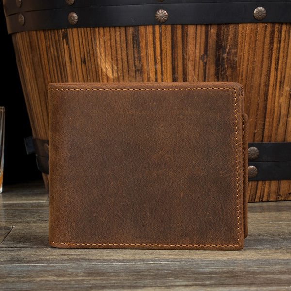 Short Wallet, Genuine Leather Wallet, Handmade Money Wallet MS084 - Leajanebag